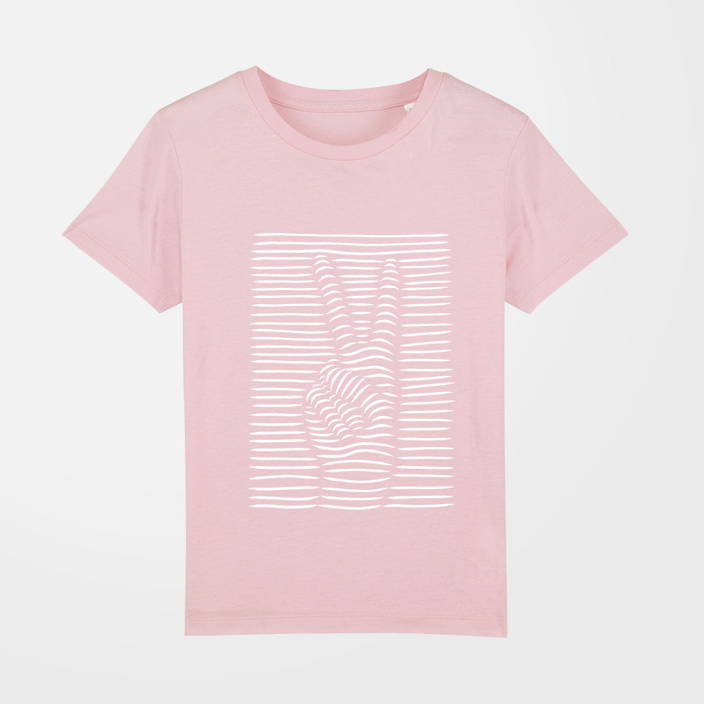 t shirt fille peace rose