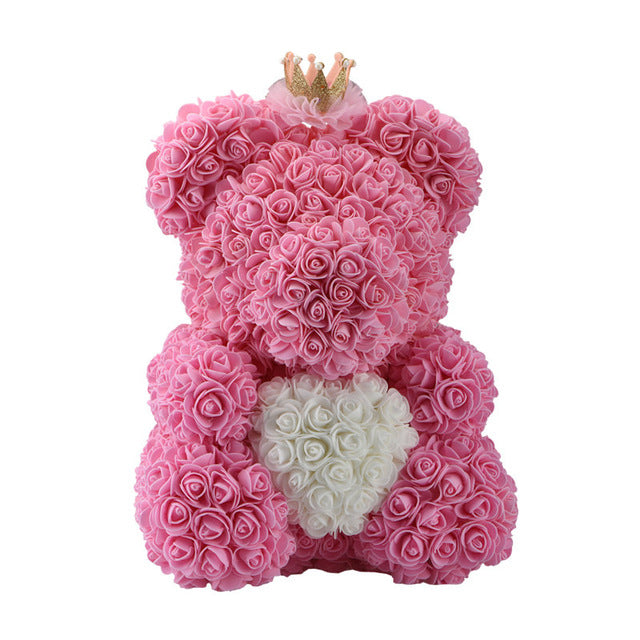 Teddi Bear Rose Flower Gift For Valentines Connect Gadgets