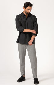 TAPERED SUMMER WOOL BLEND PANTS