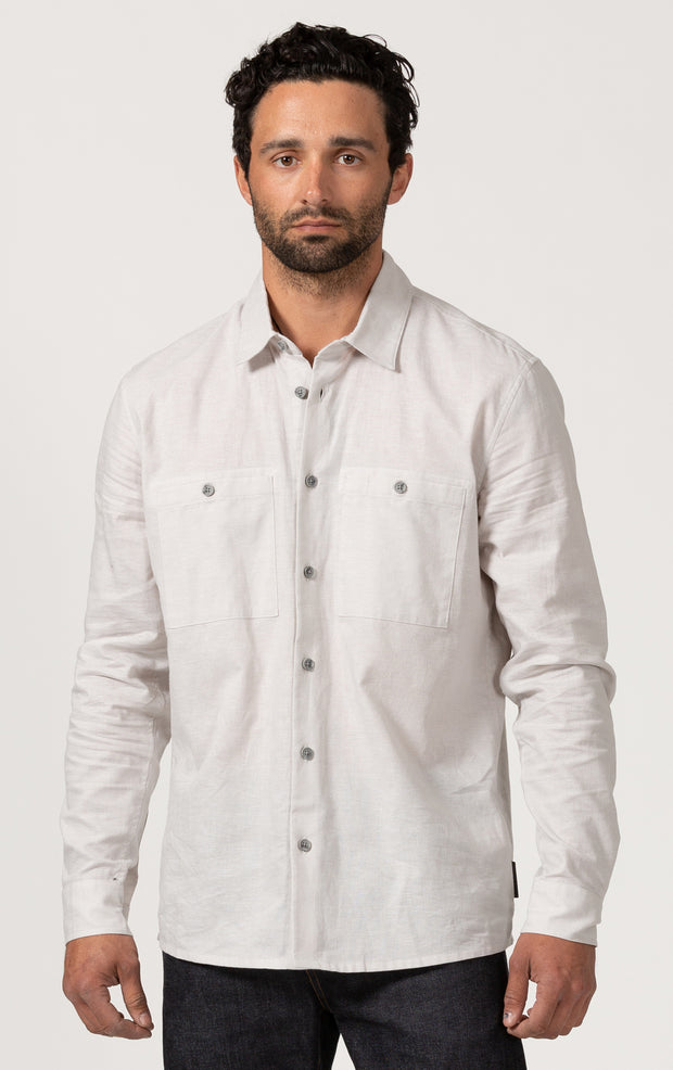 COTTON/LINEN LONG SLEEVE SHIRT