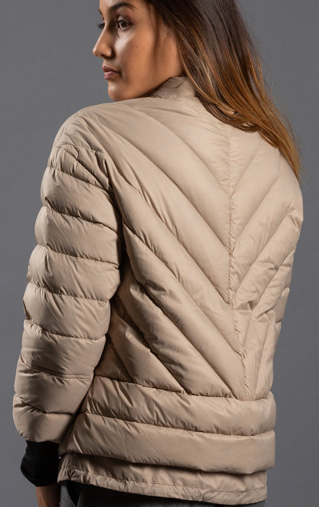 LIGHTWEIGHT DOWN CROPPED JACKET