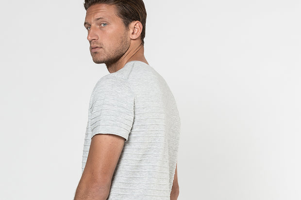 14GG COTTON/LINEN STRIPE TEE