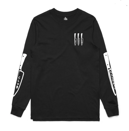 *LAST ONE: BACK STABBER LONG SLEEVE (BLACK)