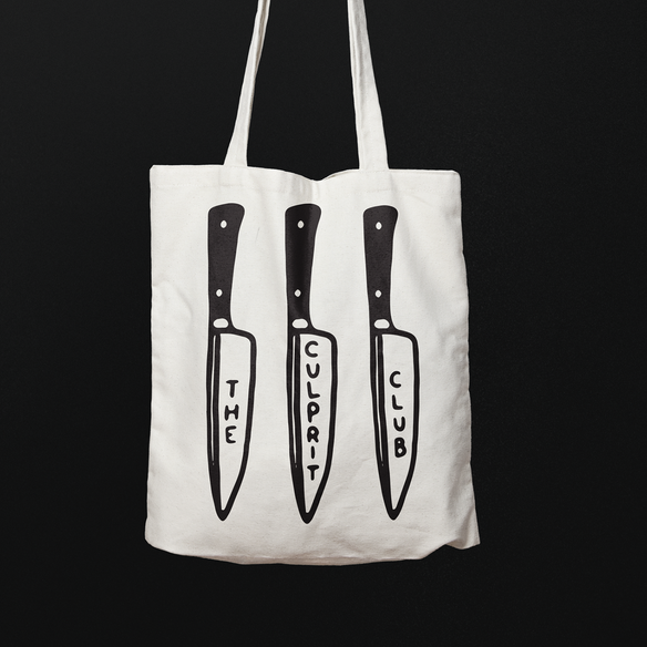 * CULPRIT CLUB BACK STABBER TOTE (WHITE)