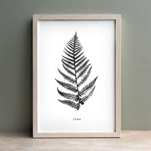Load image into Gallery viewer, Fern Print | Black