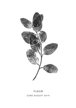 Load image into Gallery viewer, Eucalyptus Sprig Personalised Print | 3 colour options