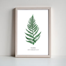 Load image into Gallery viewer, Fern Personalised Print | 3 colour options