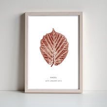 Load image into Gallery viewer, Hazel Leaf Personalised Print | Brown | Black