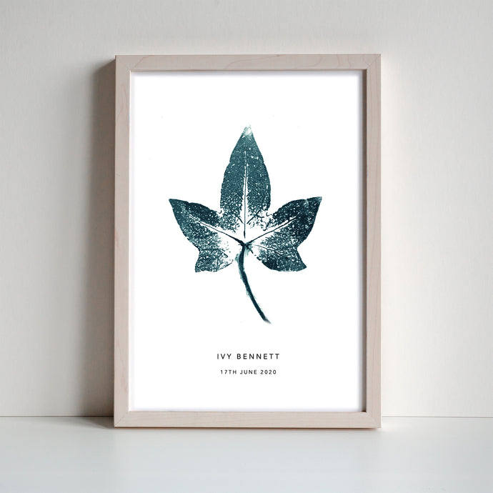 Ivy Leaf Personalised Print | 3 colour options