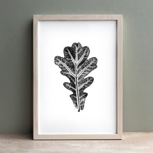 Load image into Gallery viewer, Oak Leaf Print | Black | Green