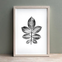 Load image into Gallery viewer, Rose Leaf Print | Black | Green