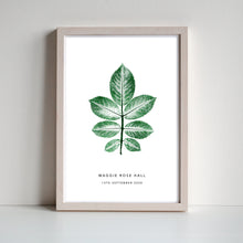 Load image into Gallery viewer, Rose Leaf Personalised Print | 3 colour options