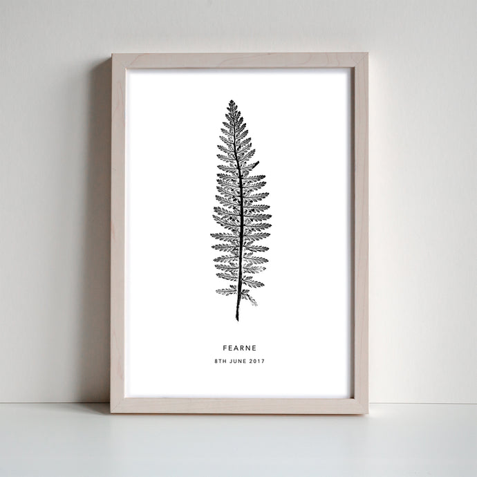 Tall Fern Personalised Print | 2 colour options