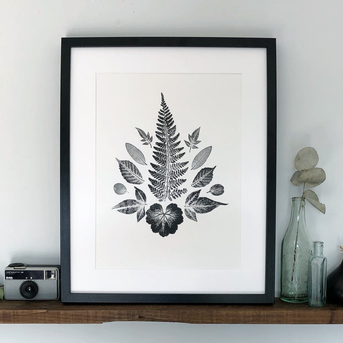 Multiple Leaf Print | Fern [paper colour options]