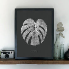 Load image into Gallery viewer, Monstera Leaf Print - White/Dark