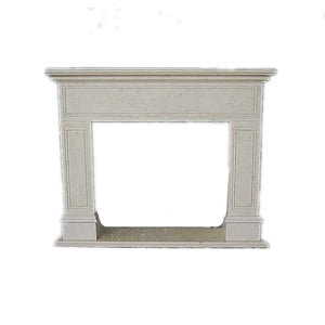 H100F-4 Nature Marble Fireplace Mantel, 67''Lx55''Hx11.8''D
