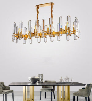 New Design Crystal Chandelier with Gold Brass Stainless Steel Frame, HSC0064-1
