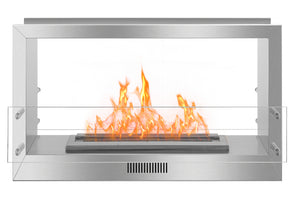 38.5'' Smokeless Ethanol Firebox, Double-Sided Unit, W38.5''xH23''xD13.4''-1