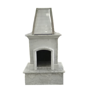 40''x72'' Luxury Outdoor Marble Fireplace, F006-1