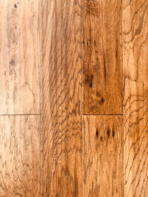6.5'' Engineered Hickory Hardwood Flooring, Gris Pulpis