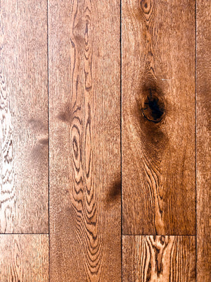 7.5'' Engineered European White Oak Hardwood Flooring, Saddle
