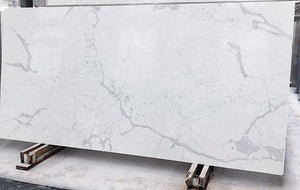 Calacatte White Quartz Slab #1016, 126''x63''x1.18'', $65/sf include installation