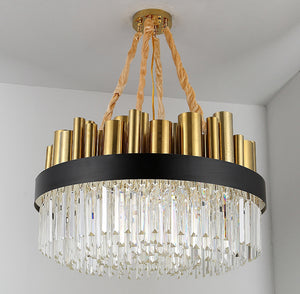 New Gothic Style Crystal Chandelier with Gold Brass Stainless Steel Top and Frame, HSC0062-1