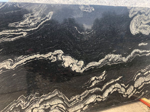 Black Titanium Quartz Slab,118''x73''x1.18'', $60/sf include installation