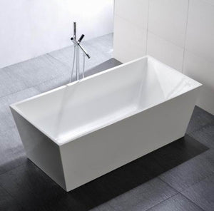 "EW6813 First Class Freestanding Acrylic Bathtub, 63""Lx31.5""Wx23.63""H"
