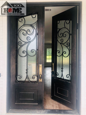 Home100 72''x96'' Double Iron Door and Same Style Single Door Installed in Ridgeland, MS-1