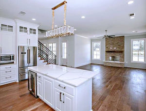 Home100 Countertops, Floors,  Chandelier, Fireplace, Ceiling Fan  Installed in Ridgeland, MS-1