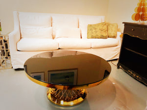 Glass Top Coffee Table with Stainless Steel Frame, SST0074