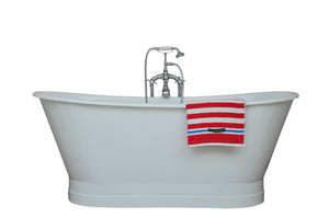 NH-1008-1 Cast Iron Skirted Patented Tub, 70''Lx28.5''Wx27''H-1