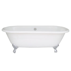 NH-1001 Double Ended Roll Top Cast Iron Bath Tub, 66''Lx30''Wx22.5''H-1