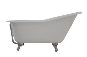 NH-1002-2 Traditional Cast Iron Slipper Bath, 60''Lx30''Wx30''H-1