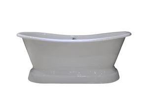 NH-1017 Cast Iron Pedestal Tub, 68''Lx31.5''Wx20''H-1