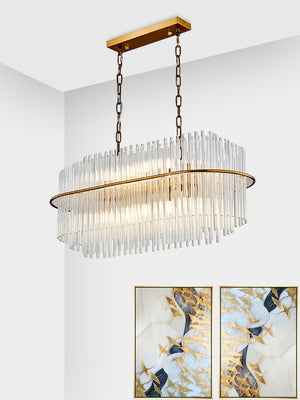 Elegant and Exquistie Crystal Chandelier with Gold Brass Iron Frame