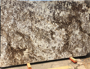 White Orion Granite Slab,128''x76''x1.18'', $55/sf include installation