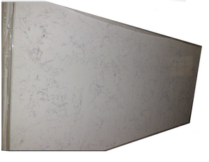 White Quartz Slab #803, 126''x63'x1.18'', $65/sf include installation