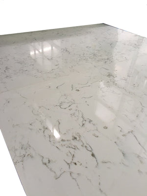 White Quartz Slab #805A, 126''x63'x1.18'', $65/sf include installation