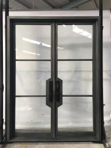 Custom Size for Modern Double Wrought Iron Doors