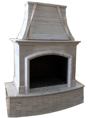 F001 First Class Nature Stone Outdoor Fireplace ,84''Hx63''Wx35''D