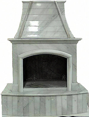 F002 First Class Nature Stone Outdoor Fireplace ,84''Hx63''Wx35''D