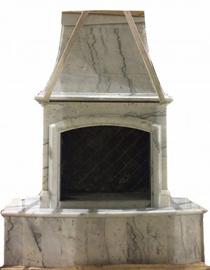 F003 First Class Nature Stone Outdoor Fireplace, 84''Hx63''Wx35''D