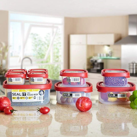 18 Piece Food Storage Container Set with Easy Locking Lids,BPA Free and 100% Leak Proof,Plastic