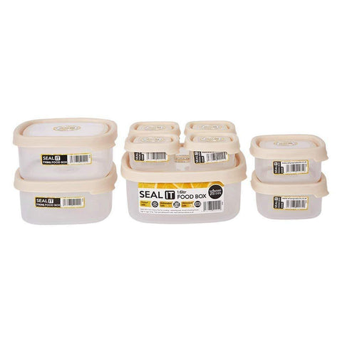 Bosonshop 18 Piece Food Storage Container Set with Easy Locking Lids,BPA Free and 100% Leak Proof,Plastic