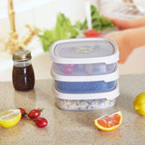 Bosonshop  6 Piece Food Storage Container Set with Easy Locking Lids,BPA Free and 100% Leak Proof,Plastic