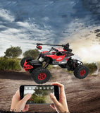 Bosonshop 2.4GHz 4WD Off-Road Vehicles 1:16 Remote Control Rock Crawler Truck with WiFi 0.3MP Camera , Can Control by Phone