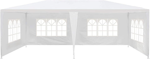 10'x20' Canopy Tent with 4 Sidewalls Wedding Party Large Gazebo Tent Outdoor Patio Yard Picnic BBQ Sun Shelter