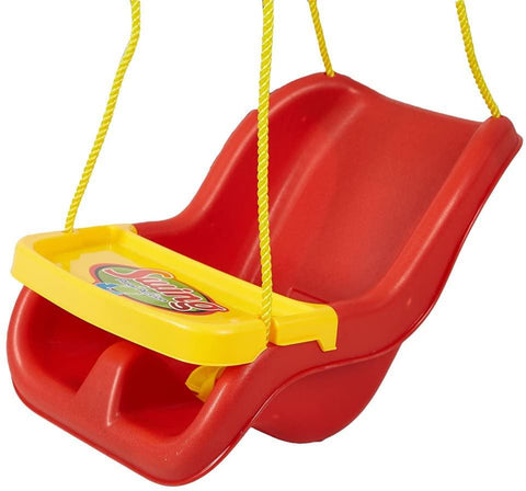 High Back Secure Swing Toddler Swing Seat Fully Assembled – Great for Tree, Swing Set, Backyard, Playground, Playroom-Red